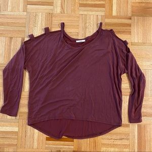 Acemi Long Sleeve Shirt with Cutouts